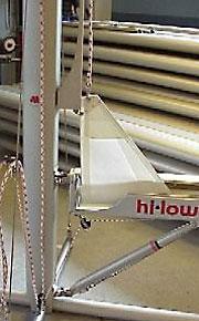 3.ラフのレールはセールクロス製で、取り付けが容易